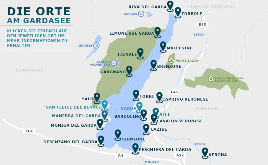 Orte Am Gardasee Wissenswertes Uber Die Orte Stadte